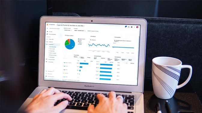 Web analytics screenshot