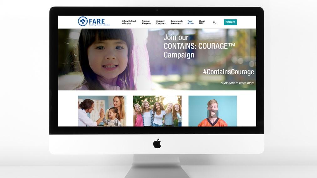 FARE redesigned homepage