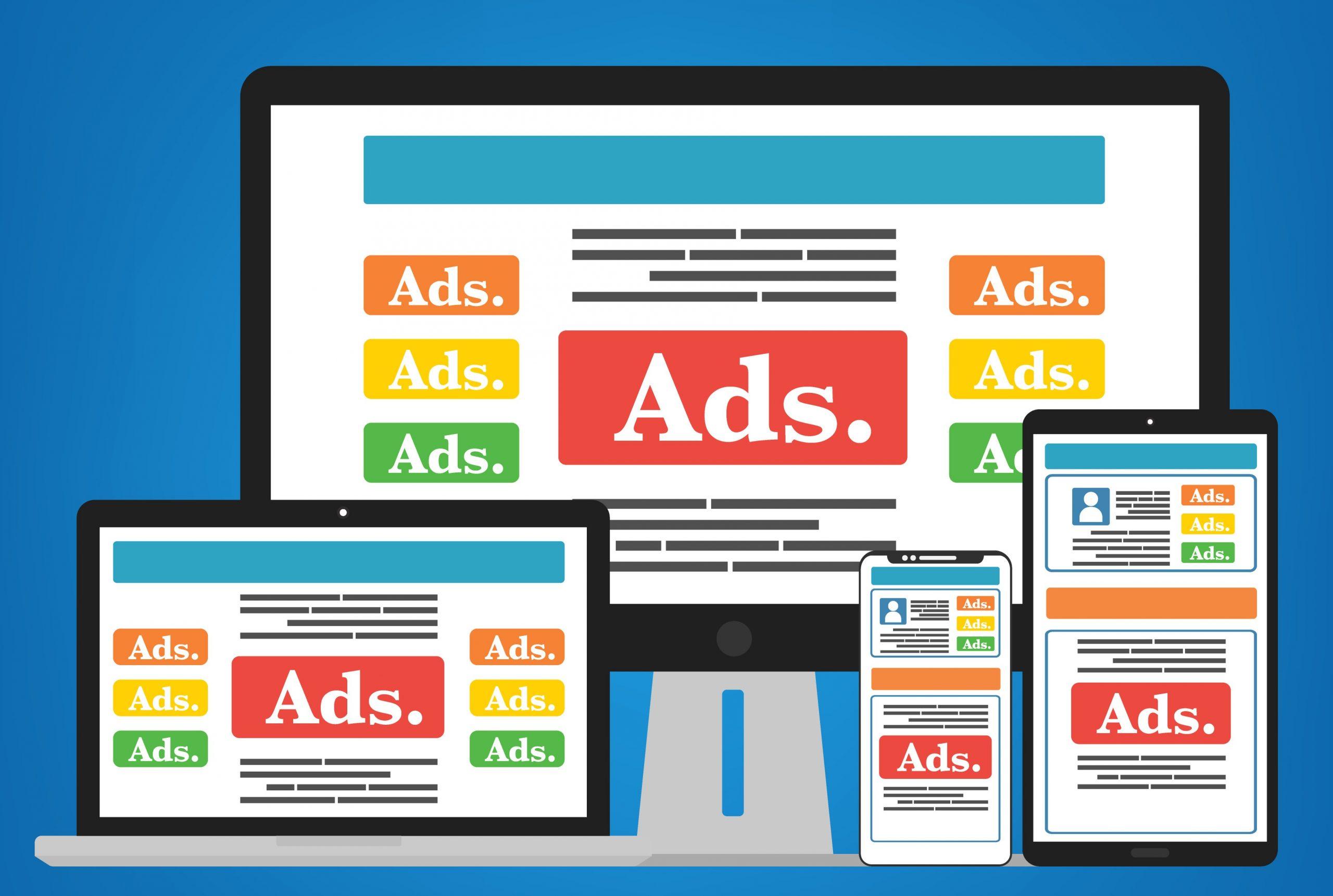 illustration of digital ads